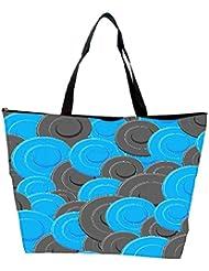 Snoogg Blue Grey Pattern Designer Waterproof Bag Made Of High Strength Nylon