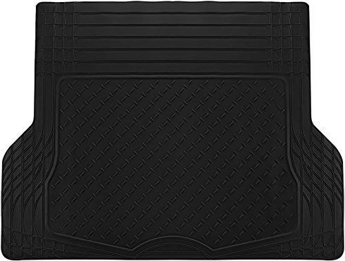 OxGord WeatherShield HD Heavy Duty Rubber Trunk Cargo Liner Floor Mat, Trim-to-Fit for Car, SUV, Van & Trucks (Black)