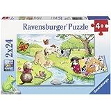 Ravensburger Puzzles Playful Animals, Multi Color (2 X 24 Pieces)