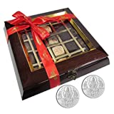 Chocholik Belgium Chocolate Gifts - Quintessential Collection 25 Pc Box With 5gm X 2 Pure Silver Coins - Gifts...