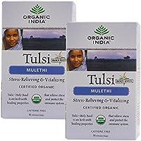 Organic India Tulsi Mulethi Infusion Bag Tea - 18 Tea Bags (2 Unit)