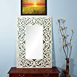 Wall Hanging Mirror Frame In White Color By Furniselan - B072SR4MS1
