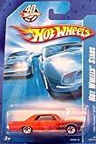 2008 #70 Hot Wheels Stars '65 Pontiac GTO Orange on 40th Anniversary Card