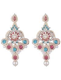 Bel-en-teno Pink & Blue Alloy Earring Set For Women - B00PY9XM1G