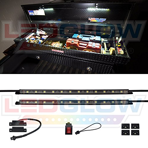 LEDGlow 2pc Truck Tool Box LED Lights