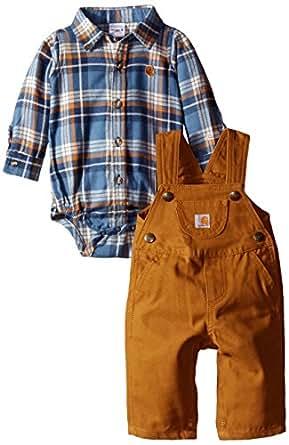 Amazon.com: Carhartt Baby Boys' Lumberjack Overall Set ...