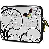 Amzer 7.75 Inch Neoprene Sleeve Snow Butterfly For Samsung GALAXY Tab 2 7.0, Google Nexus 7, Amazon Kindle Fire...