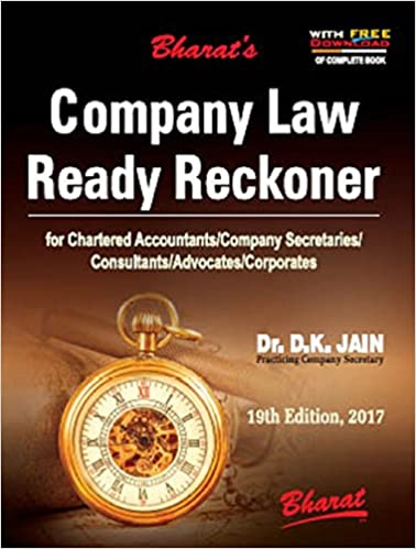 Company Law Ready Reckoner 2017 by D K Jain
