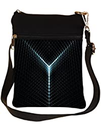 Snoogg Abstract Lights Cross Body Tote Bag / Shoulder Sling Carry Bag