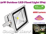 Gadget Hero's 50W LED Outdoor Flood Light White Focus Waterproof IP65 SMD Bulb 50 Watt 240V 50,000 Hours Long Life.
