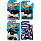 Hot Wheels Batman Batmobile 4-Car Set 2015 Batman Live! Batmobile #65; 2015 Batmobile (Blue)