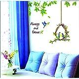 Cute Birdcage Design Home Decoration Wall Sticker