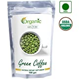 100% Pure Organic Green Coffee Beans (Decaffeinated & Unroasted) (100)