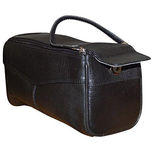 Style98 100% Leather Unisex Multi Purpose Toiletry Bag||Toiletry Kit||Toiletry Pouch||Handbag||Travel Toiletry... - B0719DRFG3