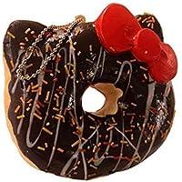Sanrio Hello Kitty Squishy Big Doughnut Ball Chain (Chocolate Dx)