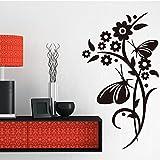 Designer Creeper With Flower Swirls And Butterflies Wall Sticker