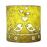 Craftter Handmade Paper Green Color Love Bird Wall Lamp 250 G (10cm * 22cm )