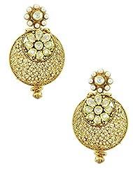 The Art Jewellery Exclusive Vilandi Kundan Chaand Balis Dangle&Drop Earrings For Women