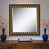 Elegant Arts & Frames Black And Gold Wall Decorative Wood Mirror 30 Inch X 30 Inch