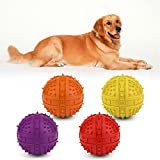 Alcoa Prime Hot Sale Dog Chew Toy Rubber BB Ball Pet Thorn Squeak Biting Chewing Training Toy Massage Ball Throwing...