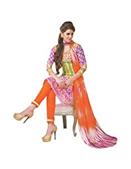 Siddhi Unstitched Cotton Printed Salwar Suit Dupatta Material ( SPLENTY-2AA )
