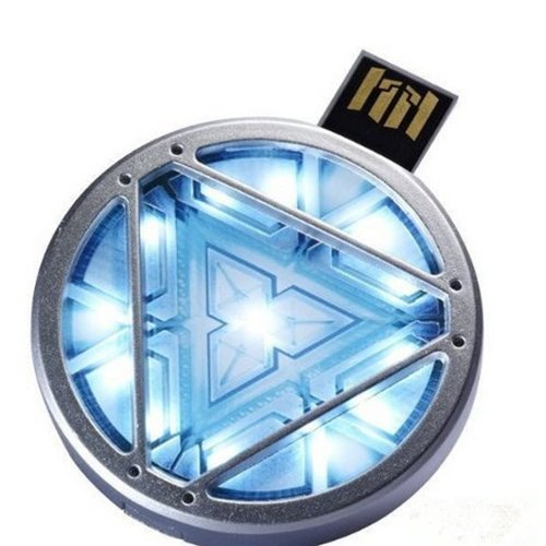 MARVEL IRON MAN 3 ARC REACTOR (8GB) USB LED LIGHT FLASH DRIVE...