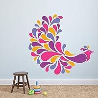 DeStudio Colorful Bird, Multi Color, Wall Stickers (Wall Covering Area : 92cm X 90cm)-11304