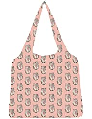 Snoogg Cute Kitty Formation Womens Jhola Shape Tote Bag
