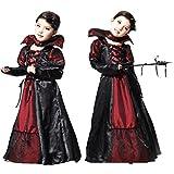 コスプレ 吸血鬼 かわいい ドラキュラ 女の子 クリスマス ハロウィン 仮装 衣装 M:110-120cm