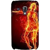 For Samsung Galaxy S3 Mini I8190 :: Samsung I8190 Galaxy S III Mini :: Samsung I8190N Galaxy S III Mini Fire Girl ( Burning Girl, Girl, Fire Girl, Fire, Cute Girl, Nice Girl ) Printed Designer Back Case Cover By FashionCops