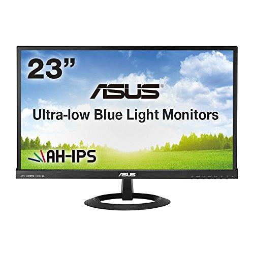 ASUS 23型フルHDディスプレイ ( AH-IPS / 広視野角178° / ブルーライト低減 / HDMI×2,D-sub×1 / スピーカー内蔵 / ブラック / 3年保証 ) VX239H-J