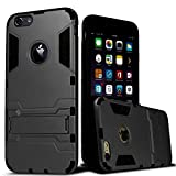 FOOTB IPhone 6S 4.7 Inch Kick Stand Ultra Slim Armor Back Case Cover Shockproof In (Grey) Color