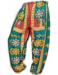 Rajsthani Mandala Hand Block Print Peacock Alibaba Afghani Trouser