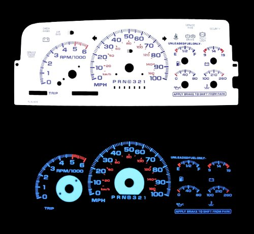 96 97 98 Chevy C/k Full Size Truck White Glow El Gauges