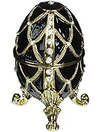 Design Toscano Golden Trellis Faberge Style Enameled Eggs: Ebene Egg