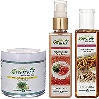 Greenviv Natural Combo Of Neem & Tea Tree Bath Salt (100 Gm), Rose & Geranium Face Toner (100 Ml) With Turmeric...
