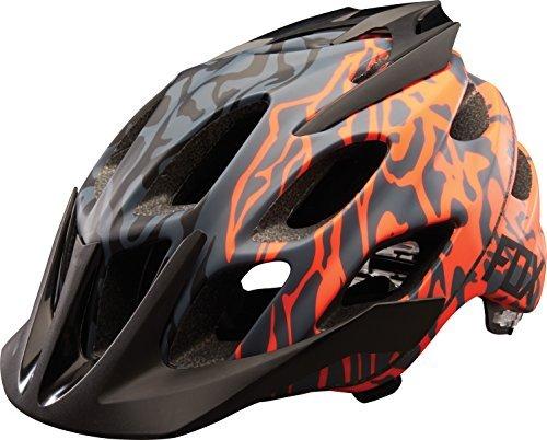 Fox Head Flux Cauz Style Mountain Bike Helmet (Grey/Orange, L/XL)