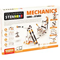 Engino Discovering Stem Mechanics Cams And Cranks Building Kit, Multi Color
