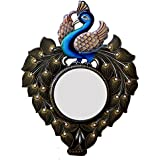Ghanshyam Art Wood Peacock Wall Mirror (45.72 Cm X 4 Cm X 60.96 Cm, GAC058)