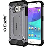 Cubix® Shock Proof Case For Samsung Galaxy S6 Tough Armor Tech Series Back Cover Case With Premium Carbon Fiber...
