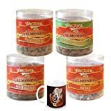 Chocholik Dry Fruits - Almonds Peri Peri, Almonds Rose, Gulkand & Italian Herbs - Gifts For Diwali - 4 Combo Pack...