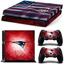 Elton NFL New England Theme 3M Skin Decal Sticker For PS4 Playstation 4 Console Controlle