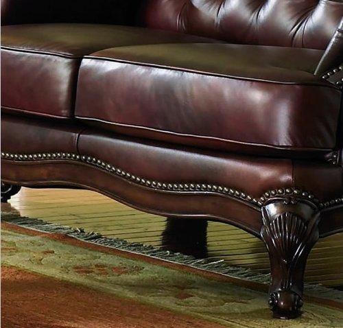 Attractive Victoria Classic Button Tufted Leather Sofa Set - FurnitureNdecor.com FG92