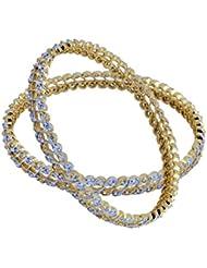 Trisha Jewels Kama Collection 24 Karat Gold Plated With Swarovski,Godsend, Serene Stone Bangles For Women (Set...