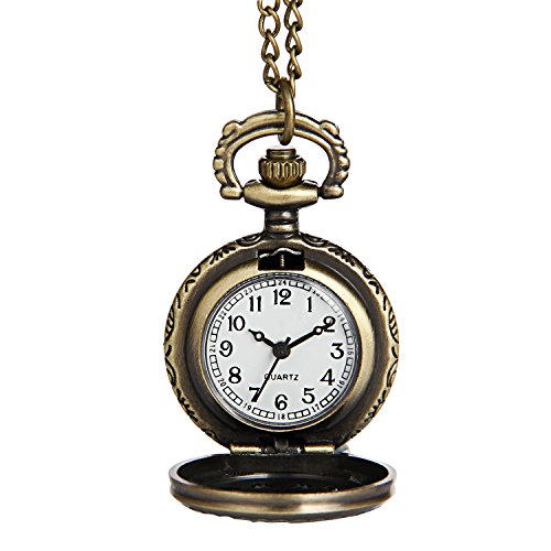 Great Group Halloween Costumes: The Addams Family - Hiwatch Women's Spider-Web Carving Pattern Hollow Out Antique Delicate Pocket Watch
