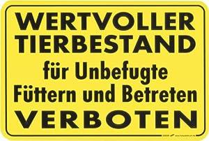 """(308596) """"WERTVOLLER TIERBESTAND für Unbefugte Füttern und"""
