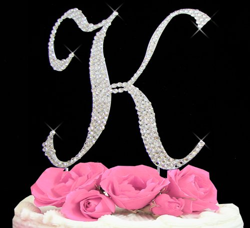 swarovski crystal monogram wedding cake toppers letter letter k swarovski monogram wedding cake topper 20676