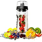 Sharpro Fruit Infuser Water Bottle - Featuring A Full Bottle Length Infusion Rod - 1 Best Fruit Infusion Sports...