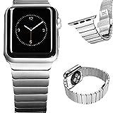 Apple Watch Band, 38mm YESOO Luxury Stainless Steel Link Bracelet Watchband With Watch Adapter (YESOO Retail Packaging...