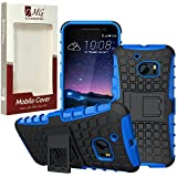 HTC One M10 Case, DMG Rugged Hybrid Back Cover Kickstand Armor Case For HTC One M10 (Blue)